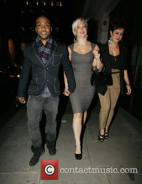 Jonathan 'J.B.' Gill of JLS, his girlfriend and...