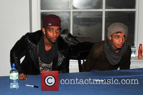 Oritse Williams and Aston Merrygold of JLS promoting...