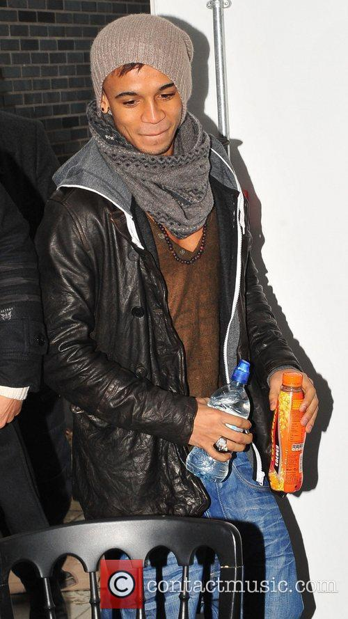 Aston Merrygold JLS promoting and signing copies of...