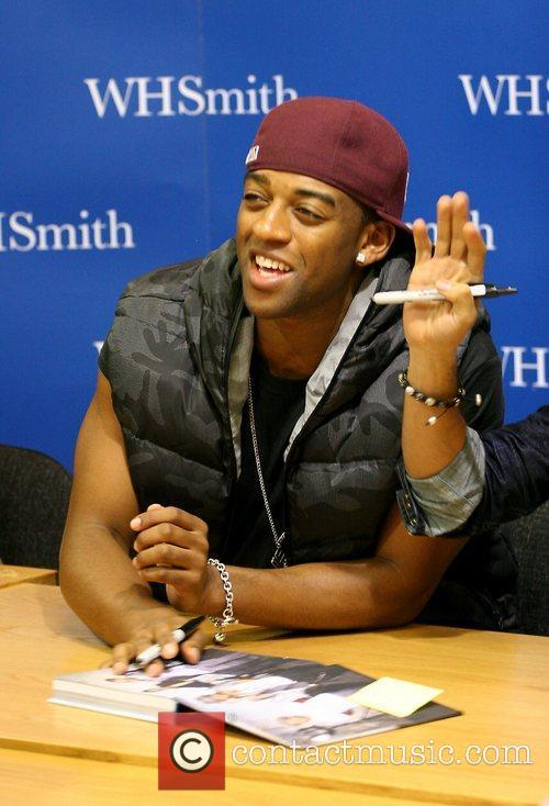 JLS promoting and signing copies of their new...