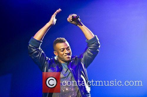 Oritse Williams of JLS performing at Wembley Arena....