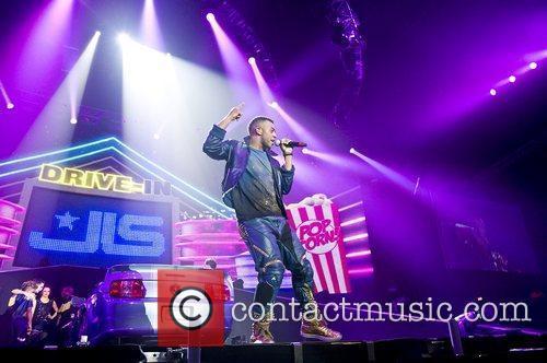 Oritse Williams of JLS performing at Wembley Arena.