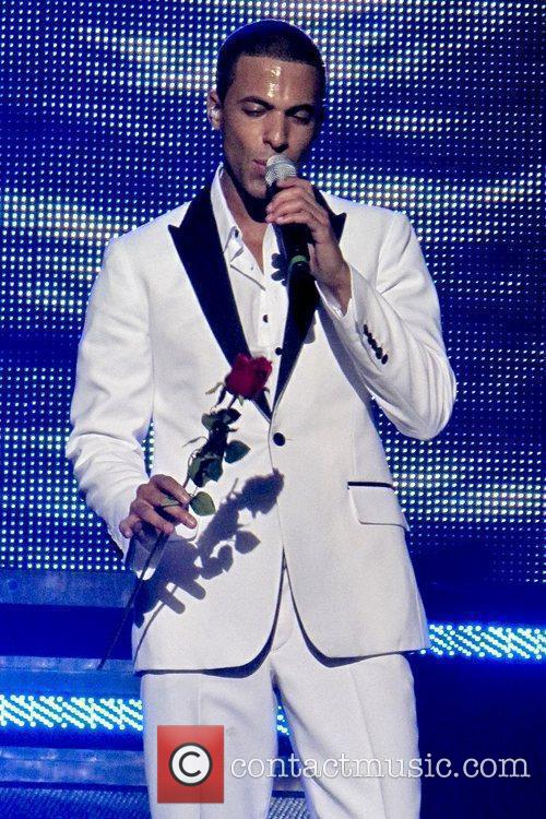 Marvin Humes of JLS performing live on stage...