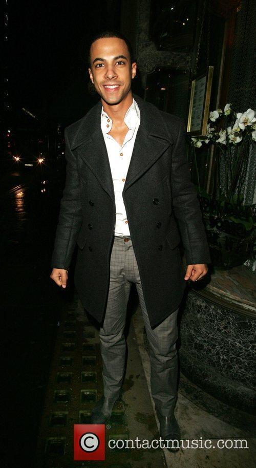 JLS - Marvin Humes arriving for a 'Dinner...
