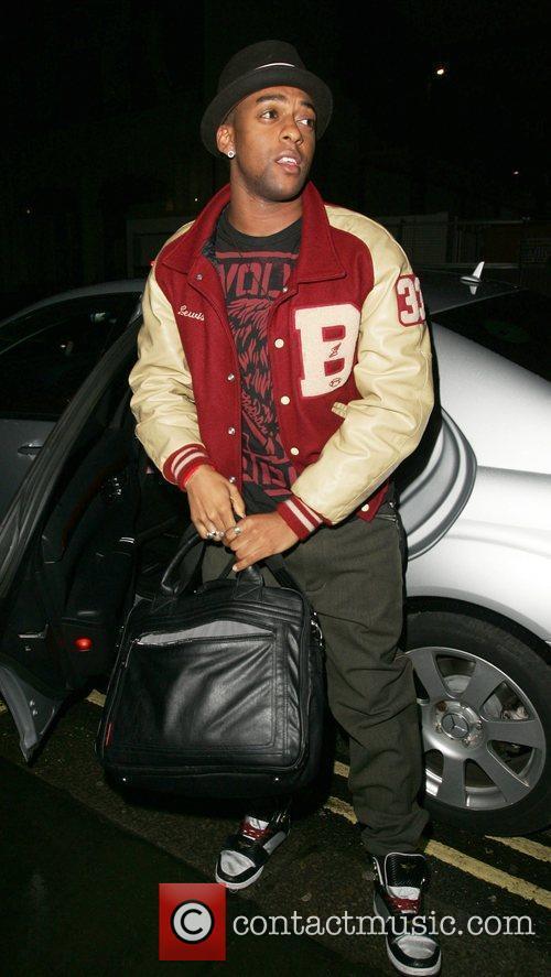 JLS - Ortise Williams arriving for a 'Dinner...