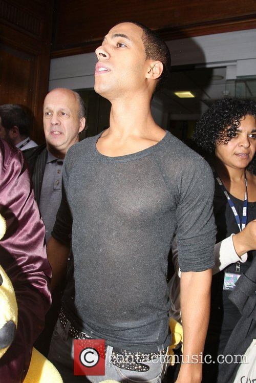 Marvin Humes of JLS outside the BBC Radio...