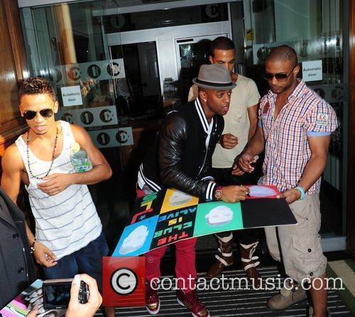 Aston Merrygold, Marvin Humes, Jonathan Gill Aka Jb and Oritse Williams 9