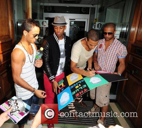 Aston Merrygold, Marvin Humes, Jonathan Gill Aka Jb and Oritse Williams 7