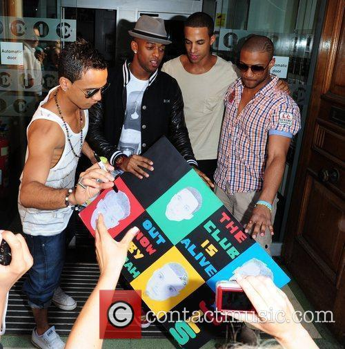 Aston Merrygold, Marvin Humes, Jonathan Gill Aka Jb and Oritse Williams 6