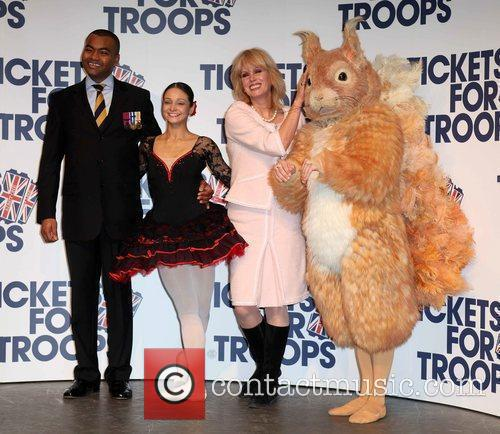 Tickets For Troops - Photocall held at the...