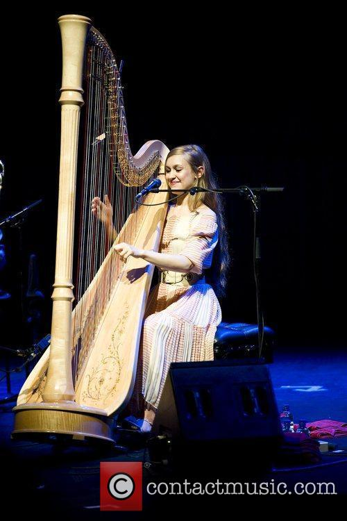 Joanna Newsom performing live at the Royal Festival...
