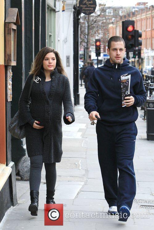 Carly Zucker and Joe Cole leaving the Stockpot...