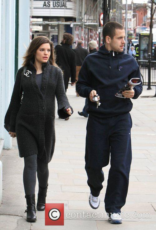 Carly Zucker and Joe Cole leaving the Stockpot...