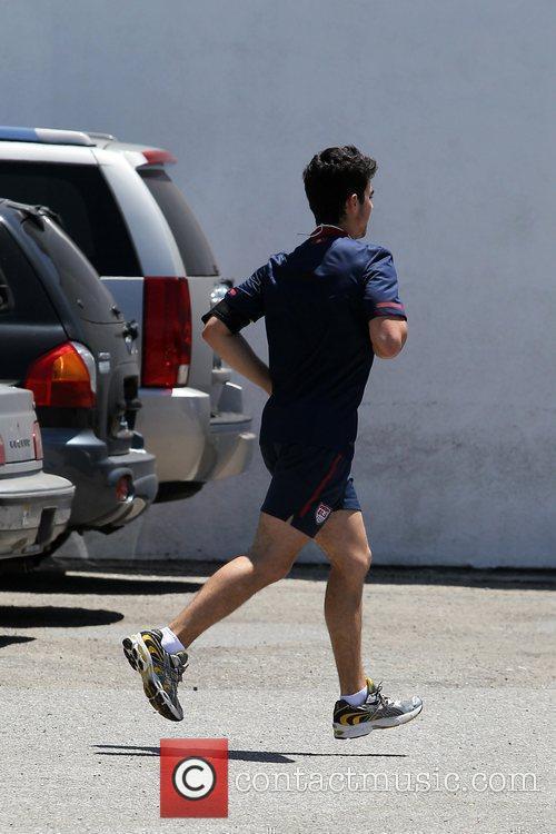 Joe Jonas  seen outside a gym in...