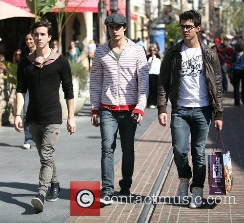 And friends shopping at The Grove in Hollywood