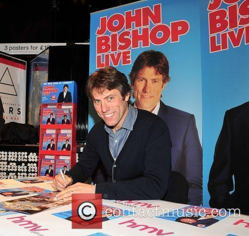 John Bishop  promotes and signs copies of...