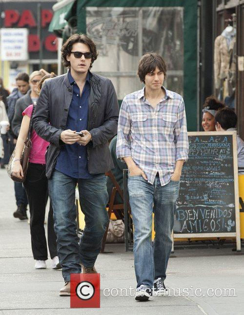 John Mayer seen walking in West Village on...