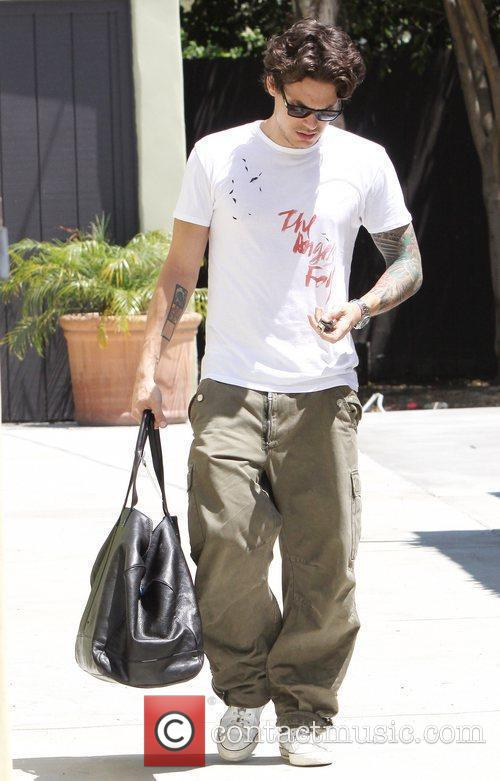 Is seen leaving the gym in West Hollywood.