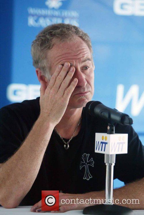 John McEnroe attends a press conference at Kastles...
