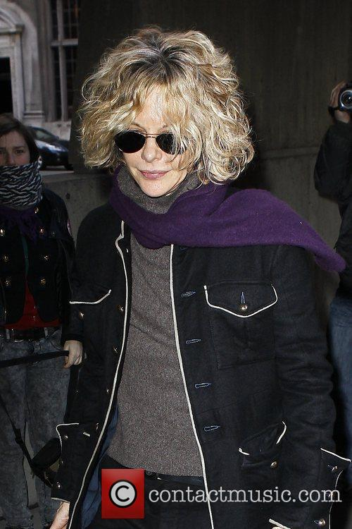 Meg Ryan outside the Whitney Museum of American...