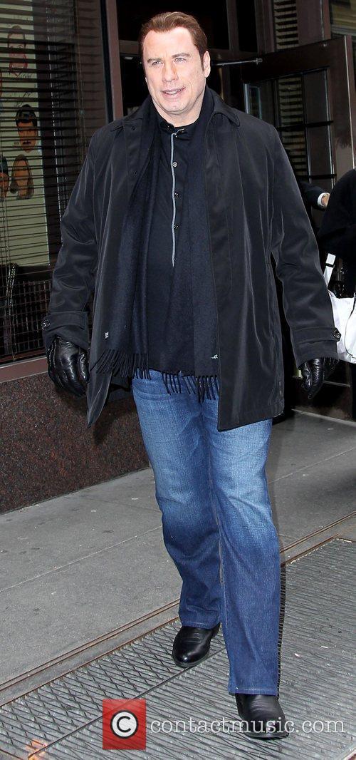 John Travolta arriving at BET studios in Manhattan...