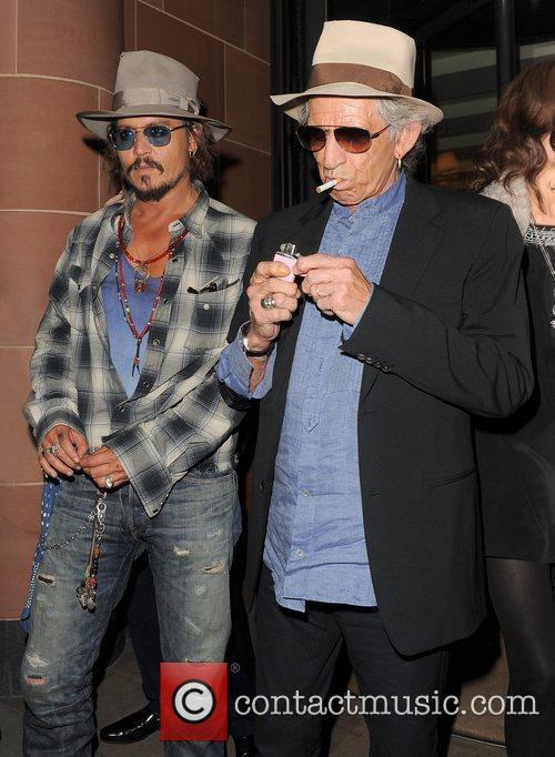 Johnny Depp, Keith Richards