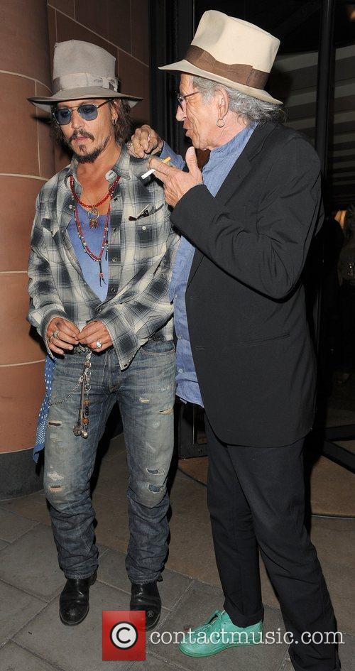 Johnny Depp, Keith Richards