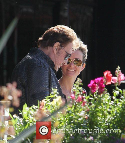 Johnny Hallyday and his wife Laetitia Boudou seen...