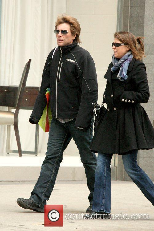 Jon Bon Jovi shopping with his wife in...