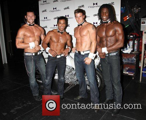 Visits The Chippendales Las Vegas to promote his...