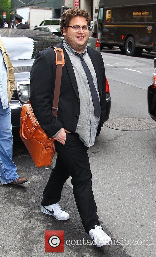 Jonah Hill leaving his Manhattan hotel - he...