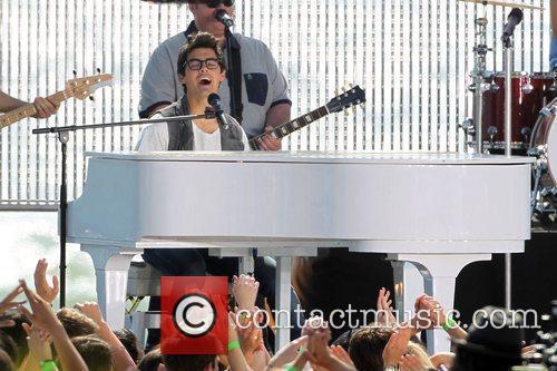 Joe Jonas The Jonas Brothers on the set...