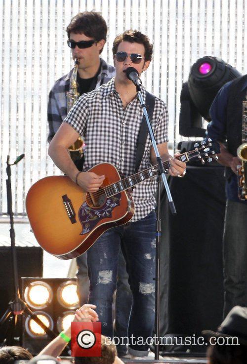 Kevin Jonas The Jonas Brothers on the set...