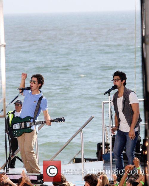 Nick Jonas and Joe Jonas The Jonas Brothers...