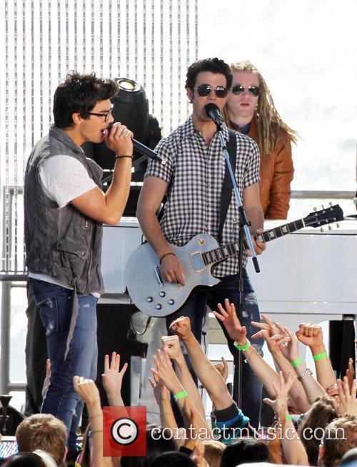 Joe Jonas and Kevin Jonas The Jonas Brothers...