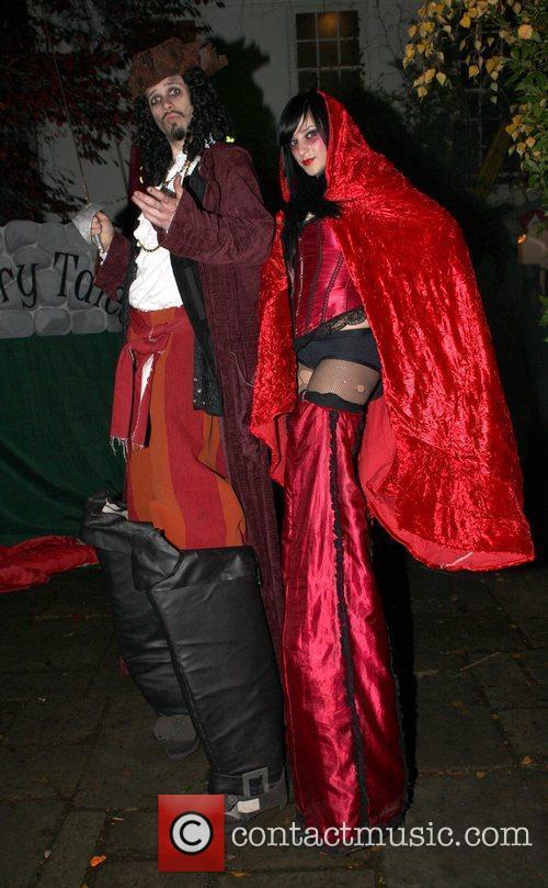 At Jonathan Ross' Halloween fancy dress party.