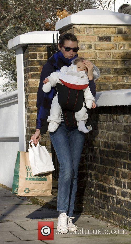 Jools Oliver with baby Petal Blossom Rainbow returning...