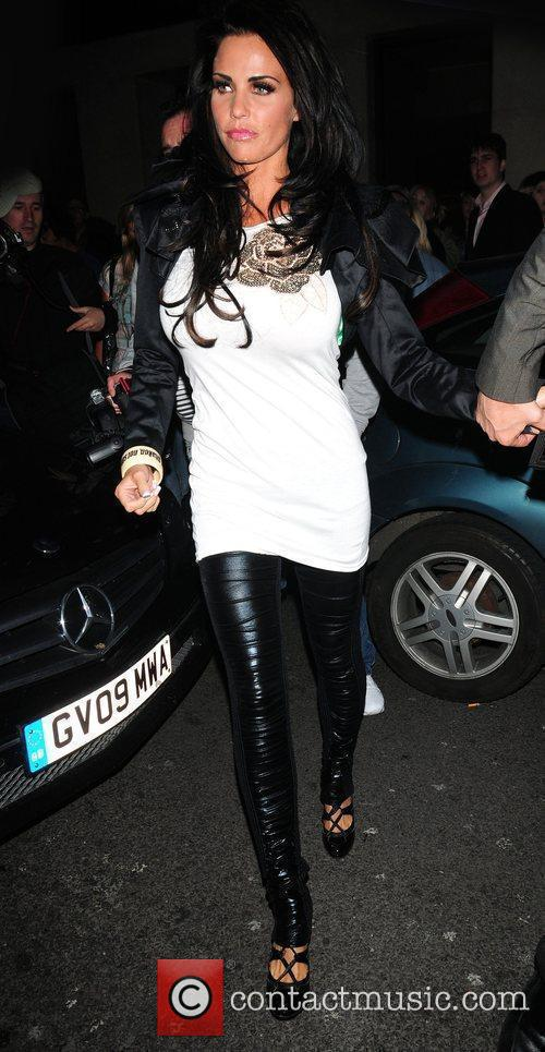 Seen leaving Mayfair Hotel surrounded by photographers.