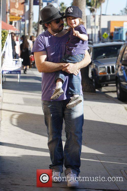 Jordan Bratman out with his son Max