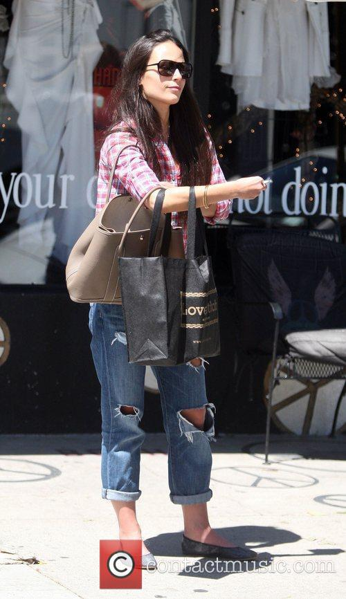 Jordana Brewster visits Le Pain in West Hollywood...