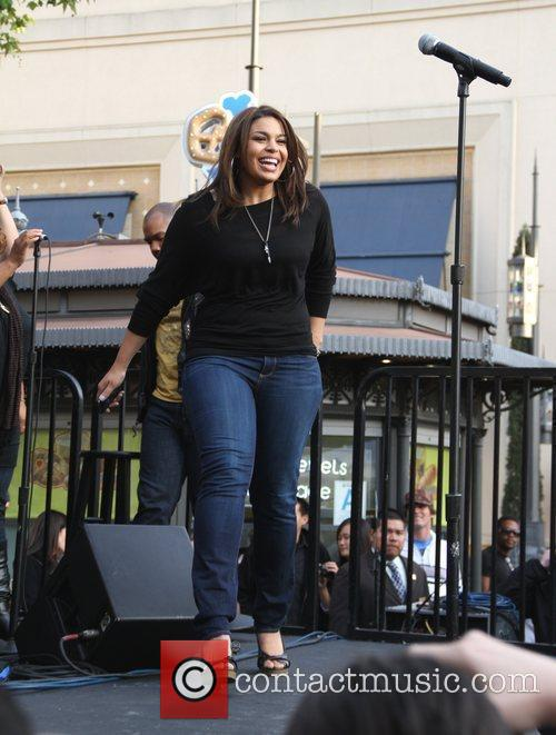 Jordin Sparks performing live at The Grove in...