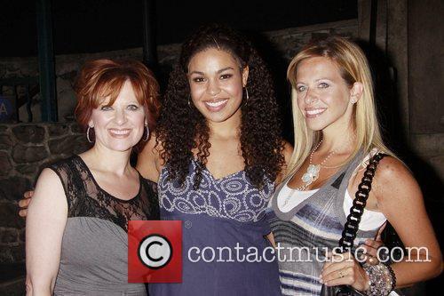 Jordin Sparks poses with Caroline Manzo and Dina...