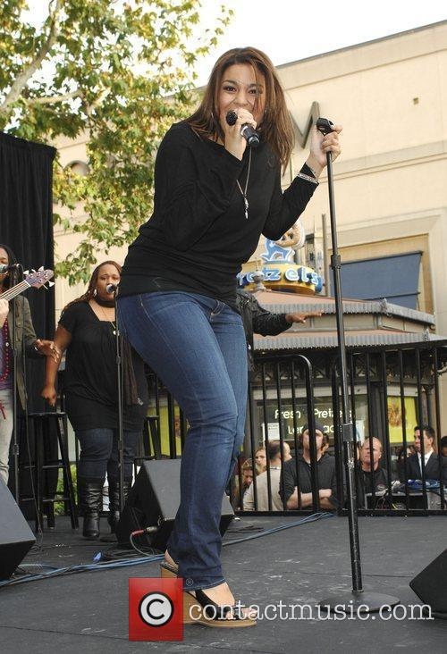 Performing live at The Grove in West Hollywood