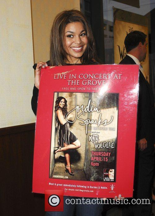 Jordin Sparks befoire performing live at The Grove...