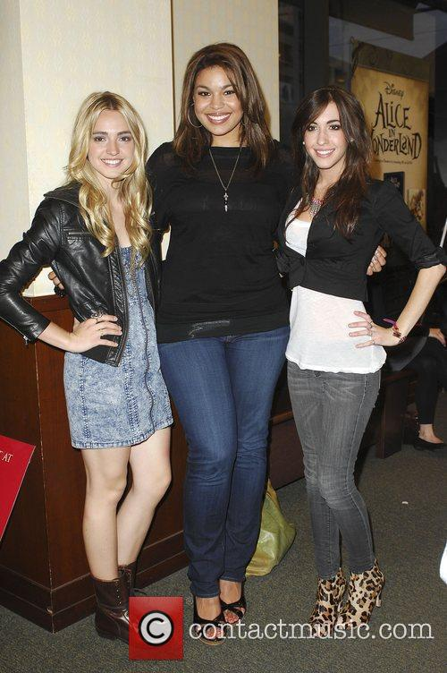 Jordin Sparks, Kate Voegele and guest before performing...