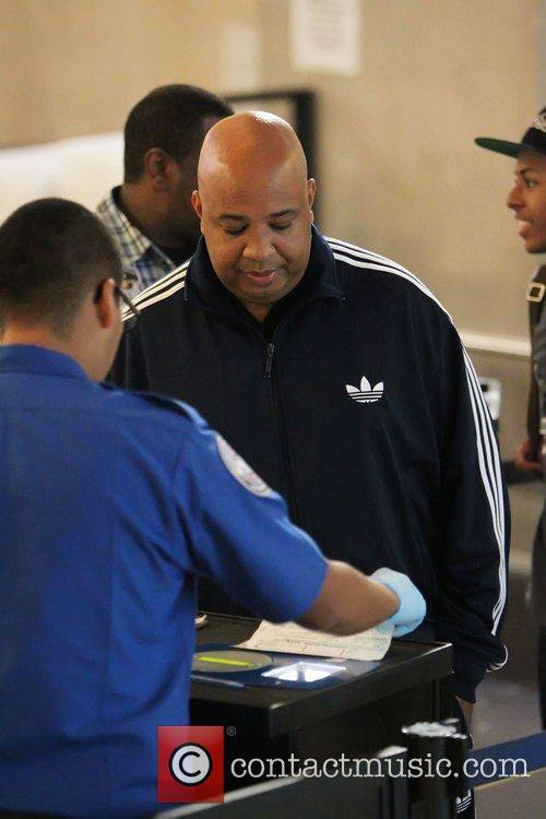 Joseph Simmons seen going through security at LAX...
