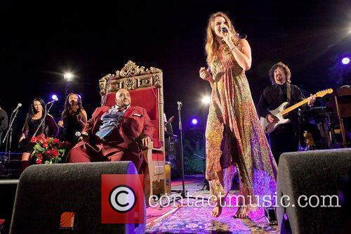 Solomon Burke and Joss Stone performing live at...