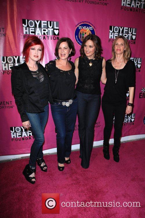 Cyndi Lauper, Marcia Gay Harden, Mariska Hargitay and