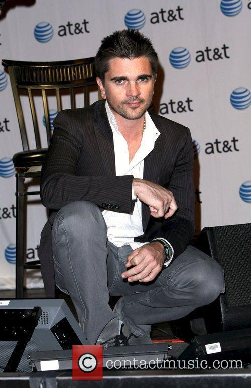 Latin recording artist Juanes attends a press conference...