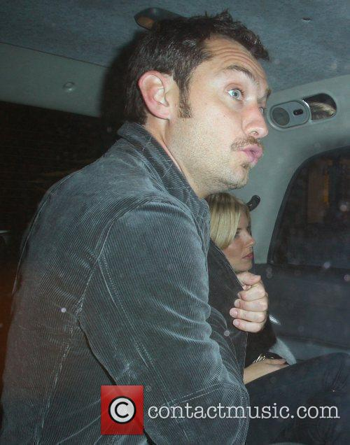 Jude Law and Sienna Miller leave Claridge's hotel...